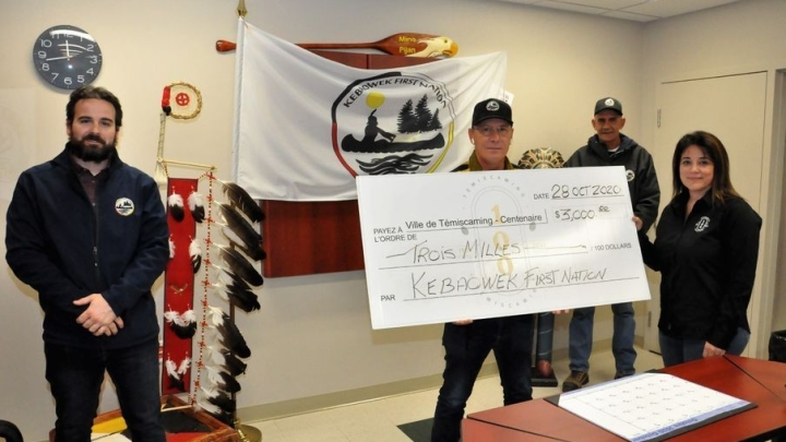 Kebaowek First Nation  fait un don de 3000$