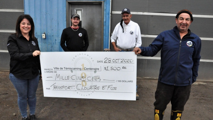 Transport Clouâtre et fils donates $ 1,500